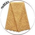 Neuheiten Perlen Guipure Spitze Stoff Schweizer Gelb Gold Hochzeiten Tüll Net Afrikanische Spitze Stoff 2018 Hohe Qualität 5 Yard