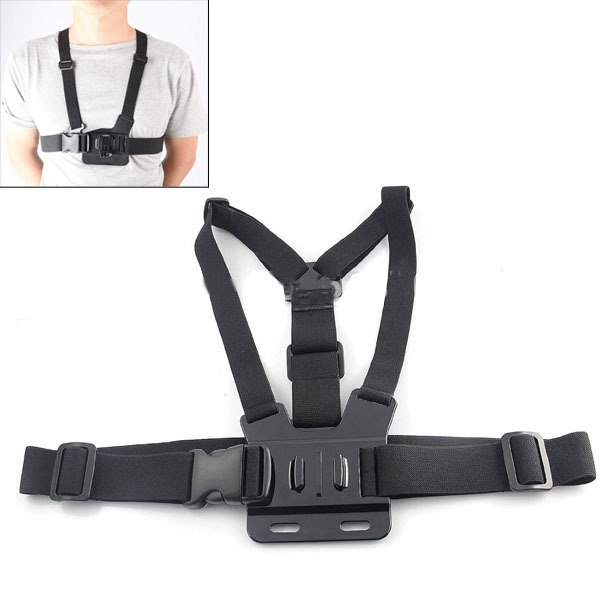 Mount Gopro-Accessories Adjustable Hero for Go-Pro 4/3/5000/6000 Harness Belt Body-Chest-Strap
