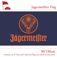 Free shipping Polyester 90x150cm 3x5ft Jagermeifter Flag For Bar Home Party