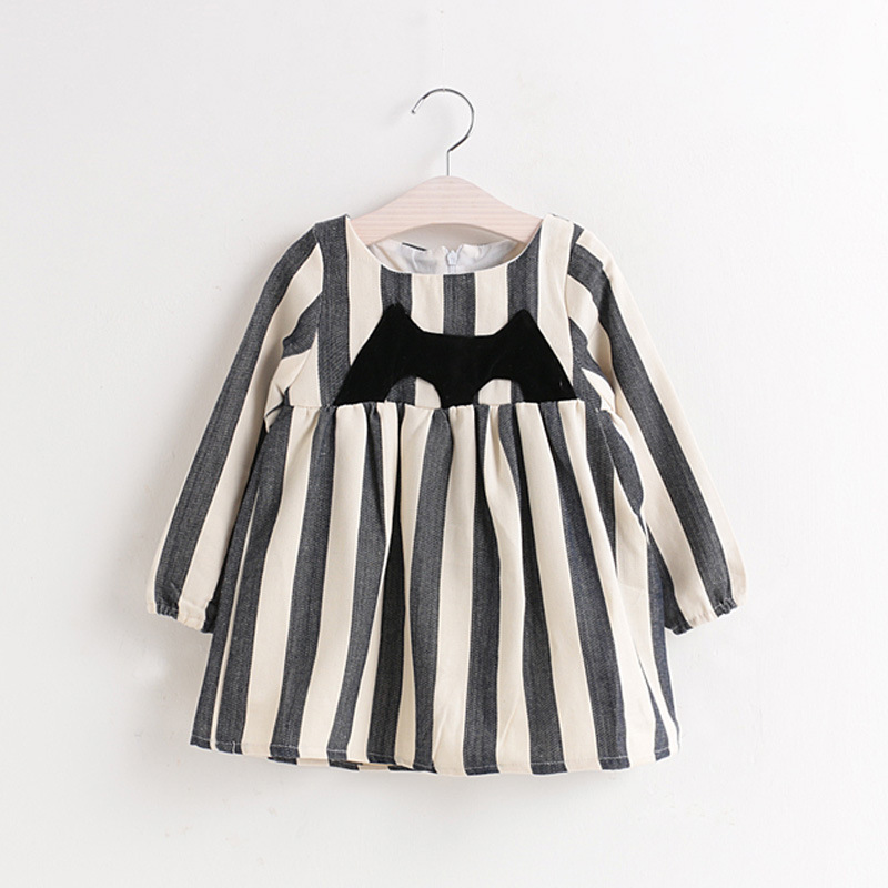 baby girl kids clothes fashion long sleeve stripe girls dresses cute cozy children clothing cotton 2-7 yrs 2016 autumn new dress fashion kids baby girl dress clothes grey sweater top with dresses costume cotton children clothing girls set 2 pcs 2 7 years