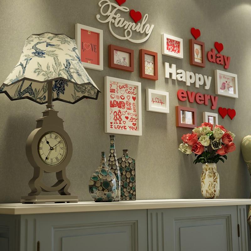 Lanskayaya dulce amor pared de madera foto Collage marcos para la ...