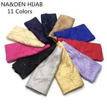 패션 이슬람 hijabs 세트 오거 패턴 코튼 여성 스카프 warps 패션 foulard viscose 빌딩 인쇄 tassels bandana 10pcs