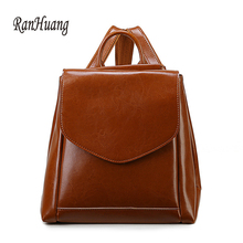 Ranhuang 2017 роскошные женские рюкзак высокое качество Натуральная Кожа Рюкзак Повседневная Школьные ранцы для девочек-подростков Дорожные сумки A738