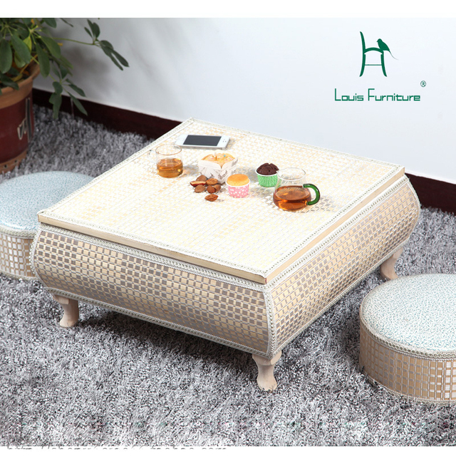 SOLO Countryside Retro Side Table French Style With Taste Elegant Tea Desk  For Living Room Furniture