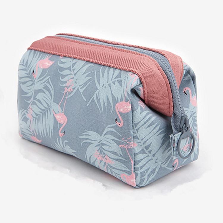 New Fashion Flamingo Print Cosmetic Bags Women Necessaire Make Up Bag Travel Waterproof Nylon Portable Makeup Bags Toiletry Kits
