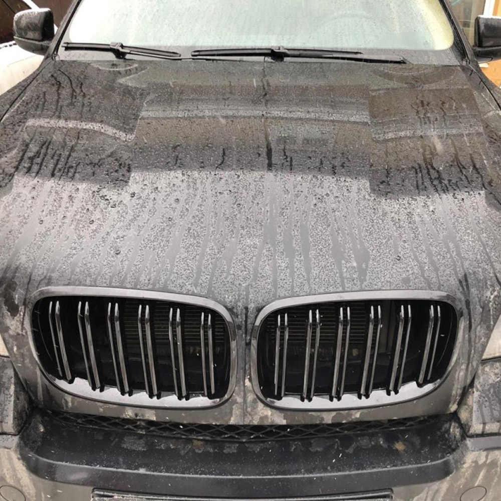 لسيارات BMW Old X5 X6 E70 E71 2007-2014 لامعة سوداء مزدوجة شريحة نمط شبكية الرادياتير الأمامية شواء تجديد هود الوفير الشوايات تصفيف السيارة
