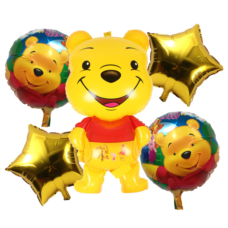 US $0 69 22% OFF|Diy Make Up Winnie the Pooh and the Honey Tree Foil  Balloon Happy Birthday Decorations Air Balloons Children's Day  Decoration-in