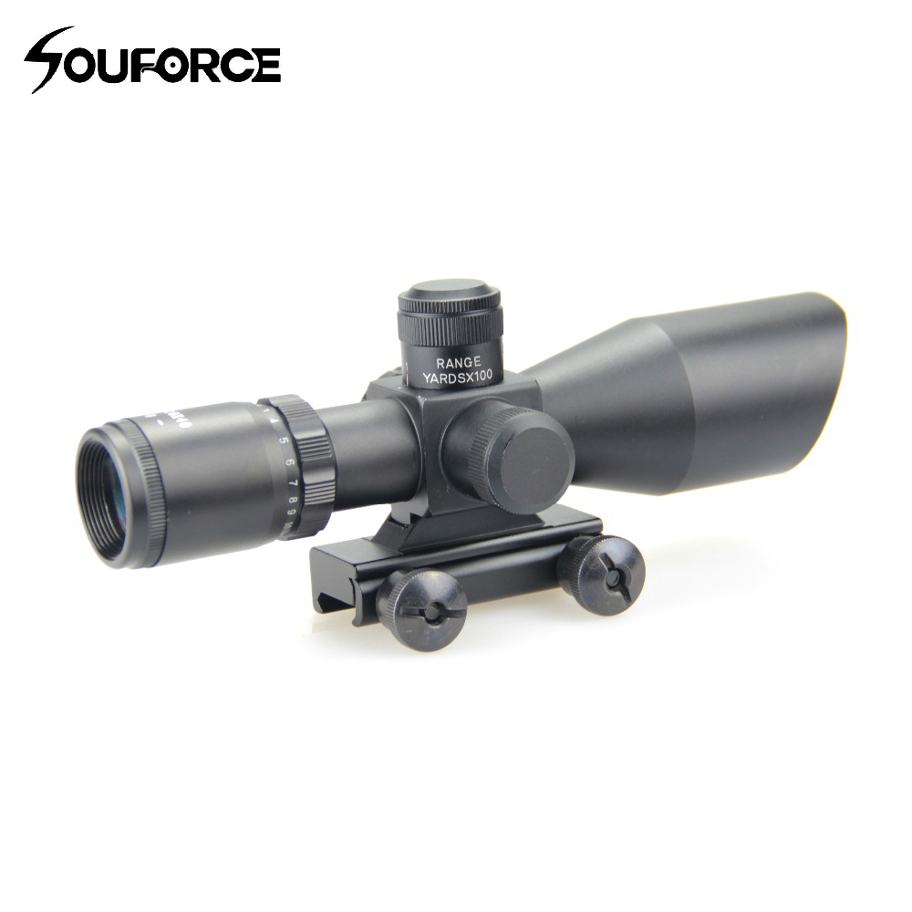 3-9x40 Hunting Scope Riflescope Green/Red Mil Dot Reticle Riflescope Waterproof Hunting Optical Sight with Nitrogen Filling lebel cosmetics cool orange scalp
