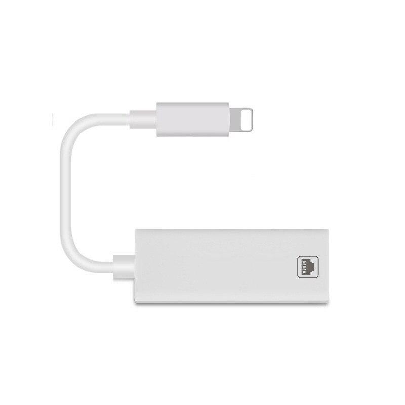 VRURC 100 Mbps adaptador de red para el relámpago a RJ45 Ethernet LAN Cable extranjero viaje compacto para iPhone/iPad serie