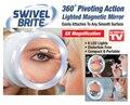 Frete grátis SWIVEL BRITE espelho de Maquiagem LEVOU lâmpada 8 vezes efeito de ampliação do banheiro