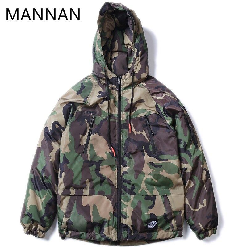 Black army Casual Mâle Streetwear De Vintage Hoodies Hommes Vestes Patchwork Chaud Hop 2018 Camouflage Épais Hip Hiver Mannan Green WTqPa141