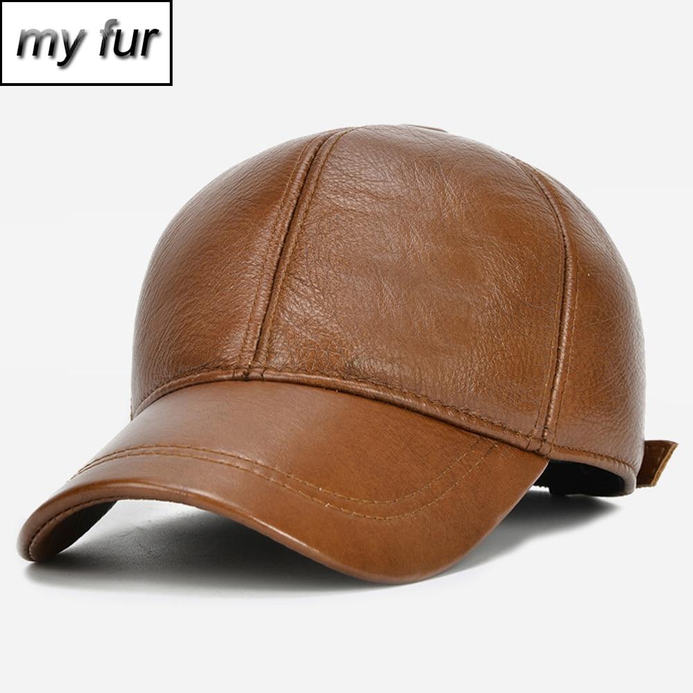 Мужская качественная брендовая бейсбольная Кепка из натуральной кожи, повседневная бейсбольная шляпа из воловьей кожи, новые осенние зимние кожаные Кепки из натуральной воловьей кожи|Мужские бейсболки|   | АлиЭкспресс