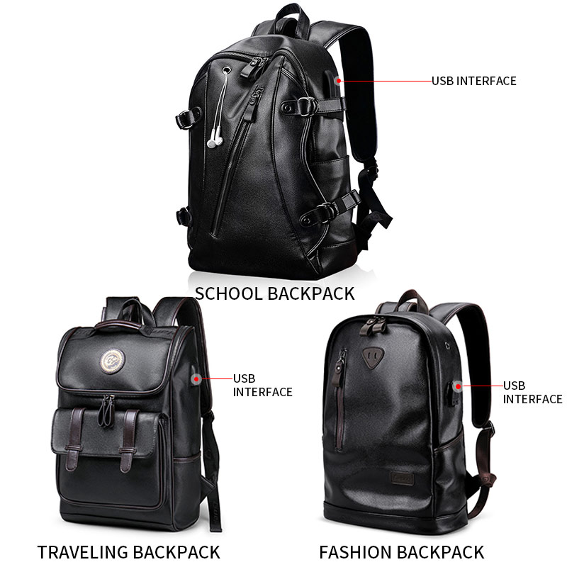 Luggage & Bags 2019 Latest Design 2018 New Brand Waterproof 14 Inch Laptop Backpack Men Leather Backpacks For Teenager Men Casual Daypacks Mochila Male Skilful Manufacture