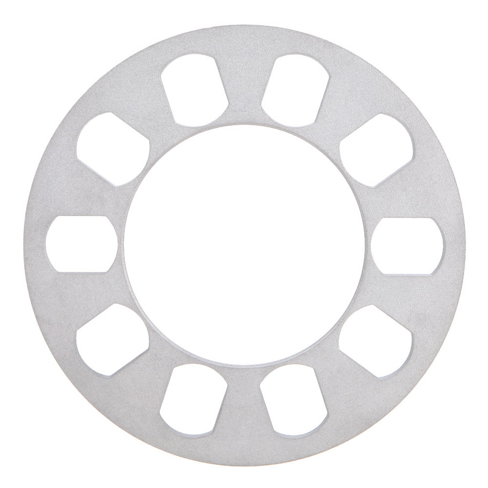 VODOOL 1pc 8mm Silver Auto Aluminum Alloy Wheel Spacer Gasket 5 Hole Wheels Tires High Quality Auto Replacement Parts