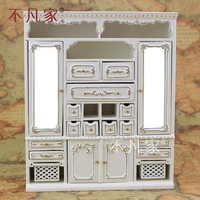 Dollhouses 1/12 scale miniature furniture High quality handmade gilt Main cabinet