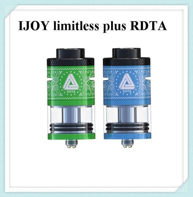 Оригинал ijoy безграничные rdta плюс распылитель электронная сигарета бак 6.3 мл большой сок емкость 25 мм диаметр и обновлены 2 пост палуба огромные жидкостью vape