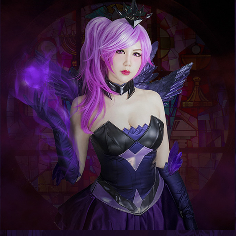 Lux Luxanna Dark Lady of Luminosity Cosplay Fancy Dress Cosplay Costume COSPLAYONSEN