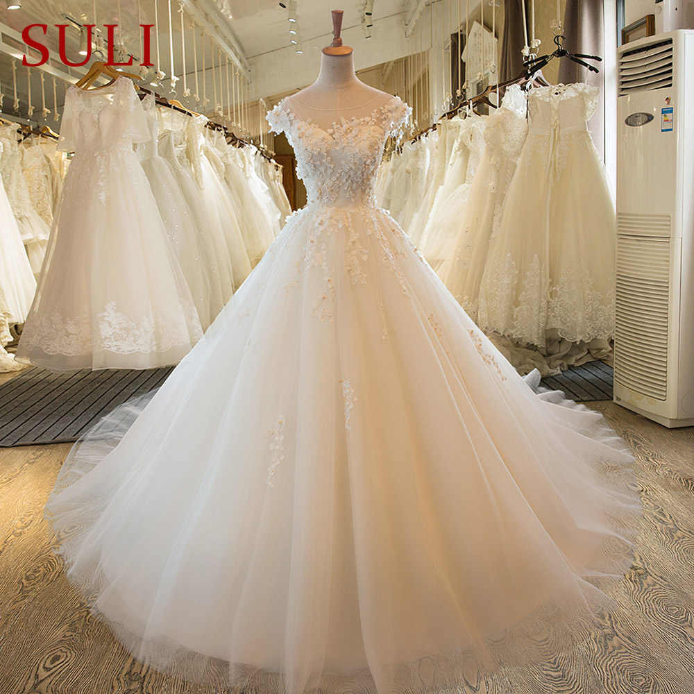 SL-9 Renda Vestido De Noiva Gaun Pengantin Pernikahan BoHo Gaun Turki 9