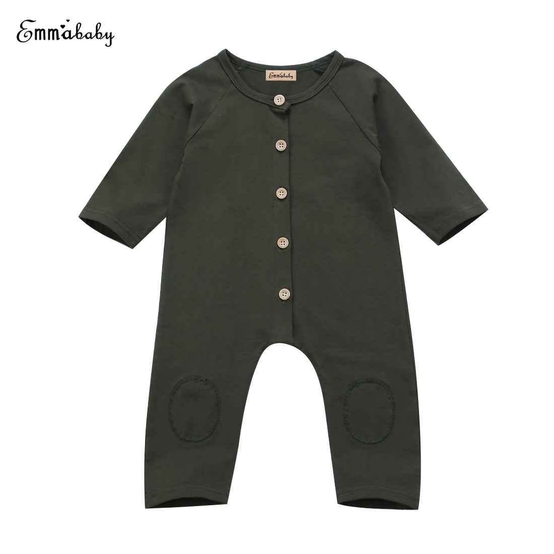 2017 Newest Fashion Newborn Kids Baby Boys Romper Long Sleeve Brief Solid Jumpsuit Outfits Set Clothes 0-2Y puseky 2017 infant romper baby boys girls jumpsuit newborn bebe clothing hooded toddler baby clothes cute panda romper costumes
