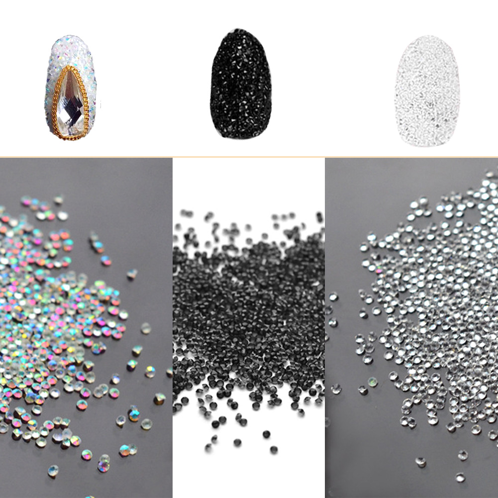New Arrival 1000pcs 1mm Zircon Rhinestones Micro Rhinestones Mini Nail Art Rhinestones Nail Decorations approx 300pcs box 1 2mm zircon nail rhinestones nail art micro rhinestones mini nail rhinestones manicure decorations 24125
