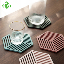 1PC Silicone Tableware Insulation Mat Coaster Cup Hexagon Mats Pad Heat-insulated Bowl Placemat Home Decor Desktop GUANYAO