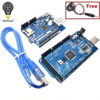 Free Shipping MEGA 2560 R3 ATmega2560 R3 AVR USB Board Free USB Cable For Arduino 2560