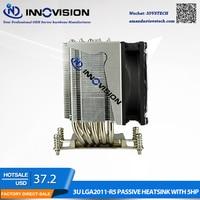 High Qulity 80*80mm LGA2011/2066 Square heatsink with 5 heat pipe for 3U/4U/5U/6U server Computer cpu radiator/cooler