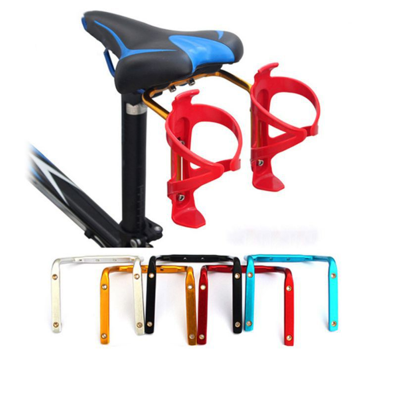 Bicycle Aluminum <font><b>Bottle</b></font> <font><b>Cage</b></font> Converter Holder Mountain <font><b>Bike</b></font> Saddle Double <font><b>Bottle</b></font> <font><b>Cage</b></font> Adapter Riding Accessories New image