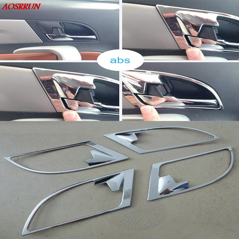 4pcs car styling chrome door handle covers interior decoration ring sticker car accessories fit. Black Bedroom Furniture Sets. Home Design Ideas
