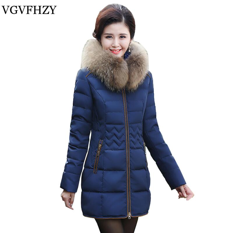 2017 Hiver Moyen-Âge Mère Blanc Duvet de Canard Vers Le Bas Veste Manteau moyen Long Chaud de Haute Qualité Vers Le Bas Jacke Plus La Taille 4XL LY601