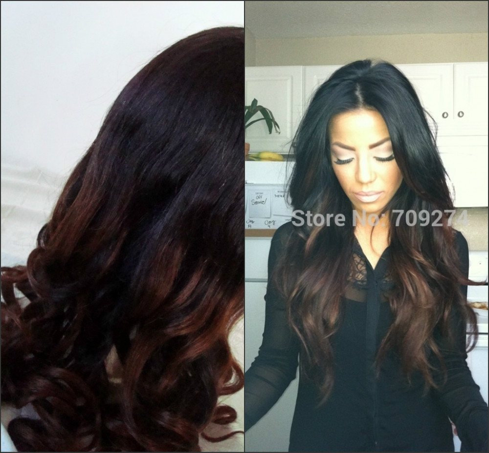 2016 Fashion Best Quality 10a 1b4 Ombre Color Natural Straight