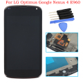 4.5inch For LG Optimus Google Nexus 4 E960 LCD Display Touch Screen Digitizer with Bezel Frame Assembly+Free Tools,Free shipping