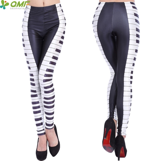 86caf5577351f 3D Piano Black And White Keys Print Yoga Pants Skinny Pilates Leggings Gym  Running Tights Sports Gym Pencil Trousers Women