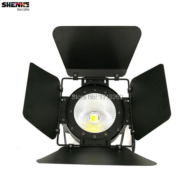 LED Par Light COB 100W with Barn Doors High Power Aluminium White DJ DMX Led Beam Wash Strobe Effect Stage Lighting