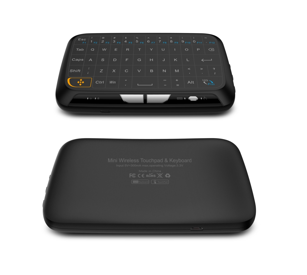 где купить 2.4GHz Wireless Full Touchpad Keyboard H18 Air Mouse tv Remote Control For Windows PC Android TV Box Kodi HTPC Google Pad дешево