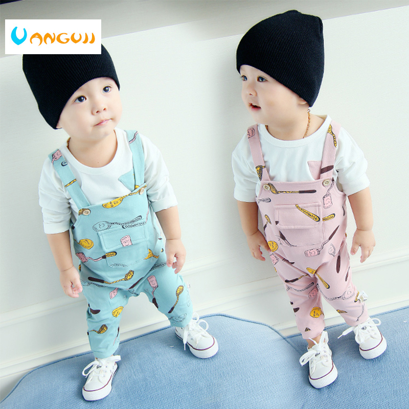 boys clothing set 2-piece sets spring summer children clothing Cartoon printing t-shirt+pants kids clothes cotton girls Bib