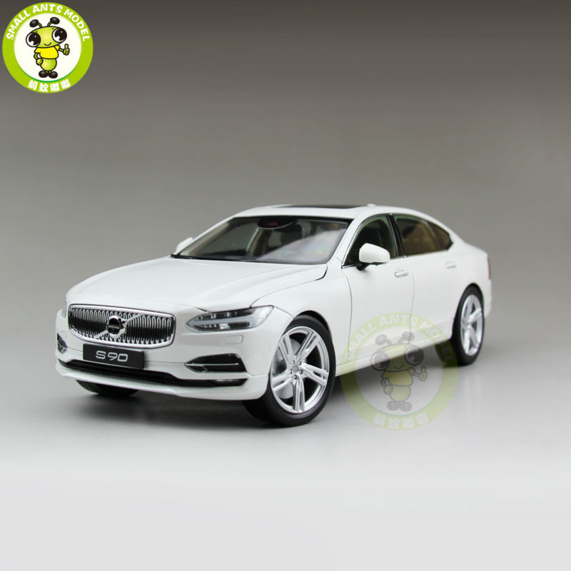 1 18 Volvo S90 T5 Diecast Model Car Toys kids boy girl gifts White Color