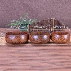 Image 4 - Creative Wooden Bowl Salad Ramen Soup Tableware Bowls Kids Food Container Instant Noodles For Kitchen Rice Tigelas Handmade