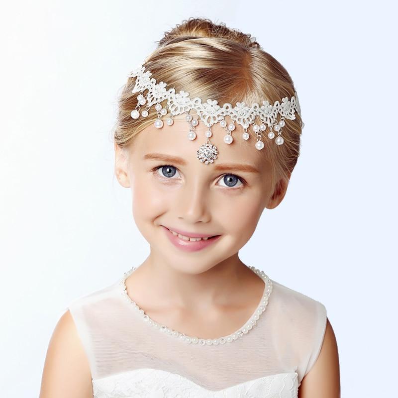 White Lace Headbands Wedding Hair Accessories Pearl Bridal Headbands Trendy Girl Prestige Simple Headpiece headpiece