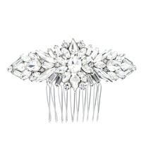 Hotsale Flower Bridal Wedding Hair Comb Gold Silver Rose Gold Rhinestone Crystal Bride Hair Accessories Women