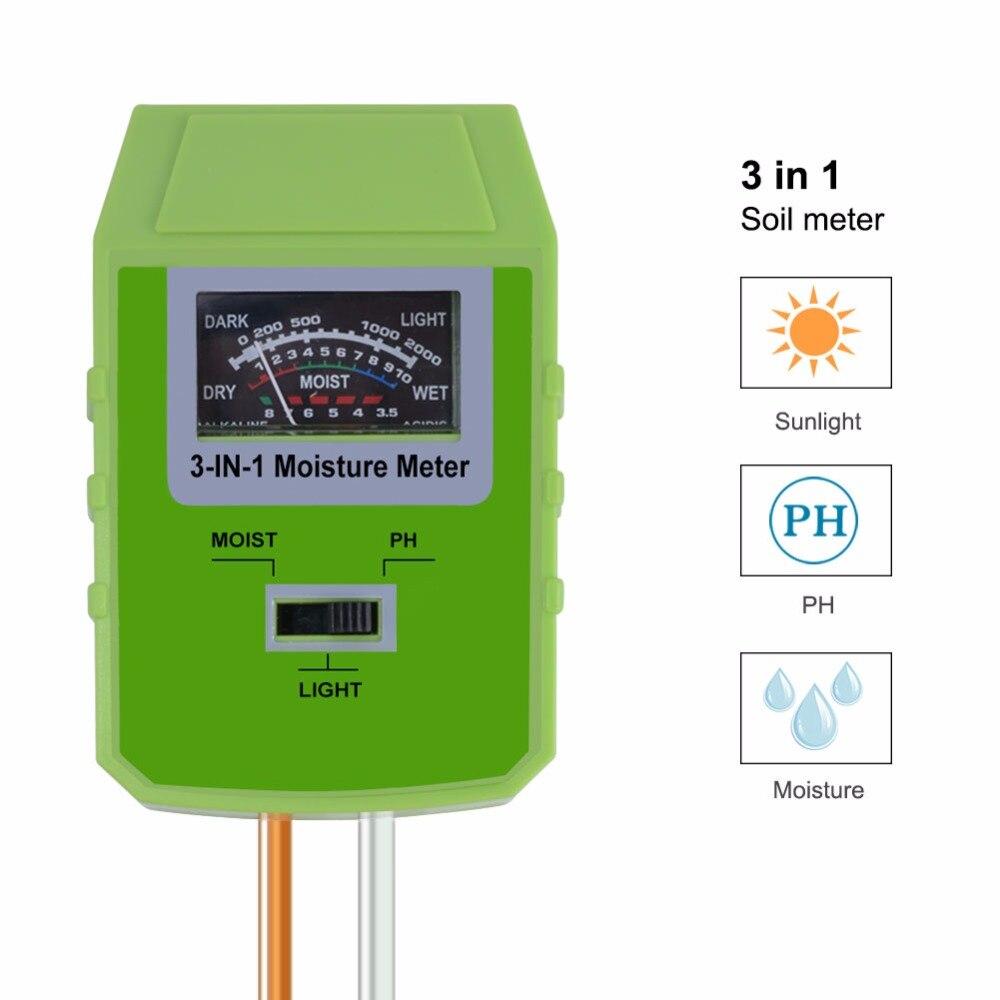 Messung Und Analyse Instrumente N Pflanze Blumen Boden Ph Tester Feuchtigkeit Messung Feuchtigkeit Licht Meter Hydrokultur Analyzer Gartenarbeit Detektor Hygrometer