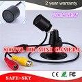 Mini câmera de CCTV 800TVL con não olhar vermelho dia / noite IR CCTV câmera de vigilância de vídeo impermeável ao ar livre IR de visão