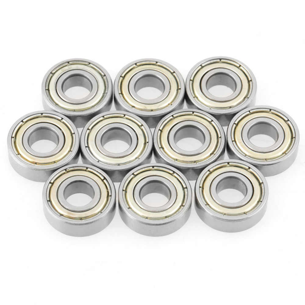 10pcs Stainless Steel Ball Bearing 6x15x5mm Miniature Skateboard Deep Groove Steel Sealed Ball Bearings for 696ZZ 619/6 R-1560Z