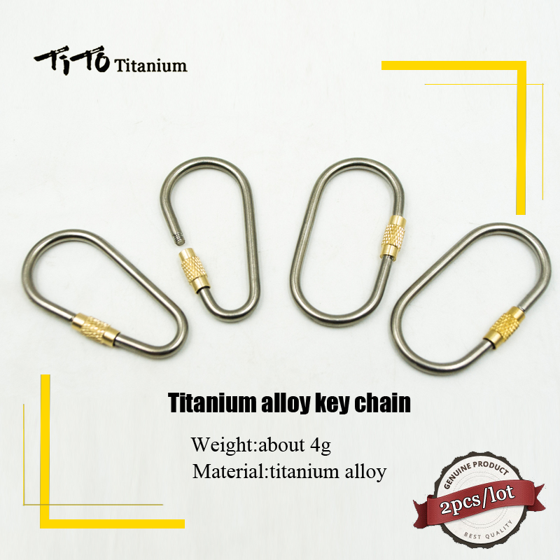 TiTo High Quality Outdoor  Titanium Alloy Safety Buckle Key Chain Hook Multifunction Key Ring Water Bottle Holder Clip