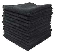 """Sinland Super Absorbent Microfiber Kitchen Towel Micro Fiber Cleaning Cloths Wiping Dust Rugs Manufacturer 12PC/lot 12""""x12""""Black"""