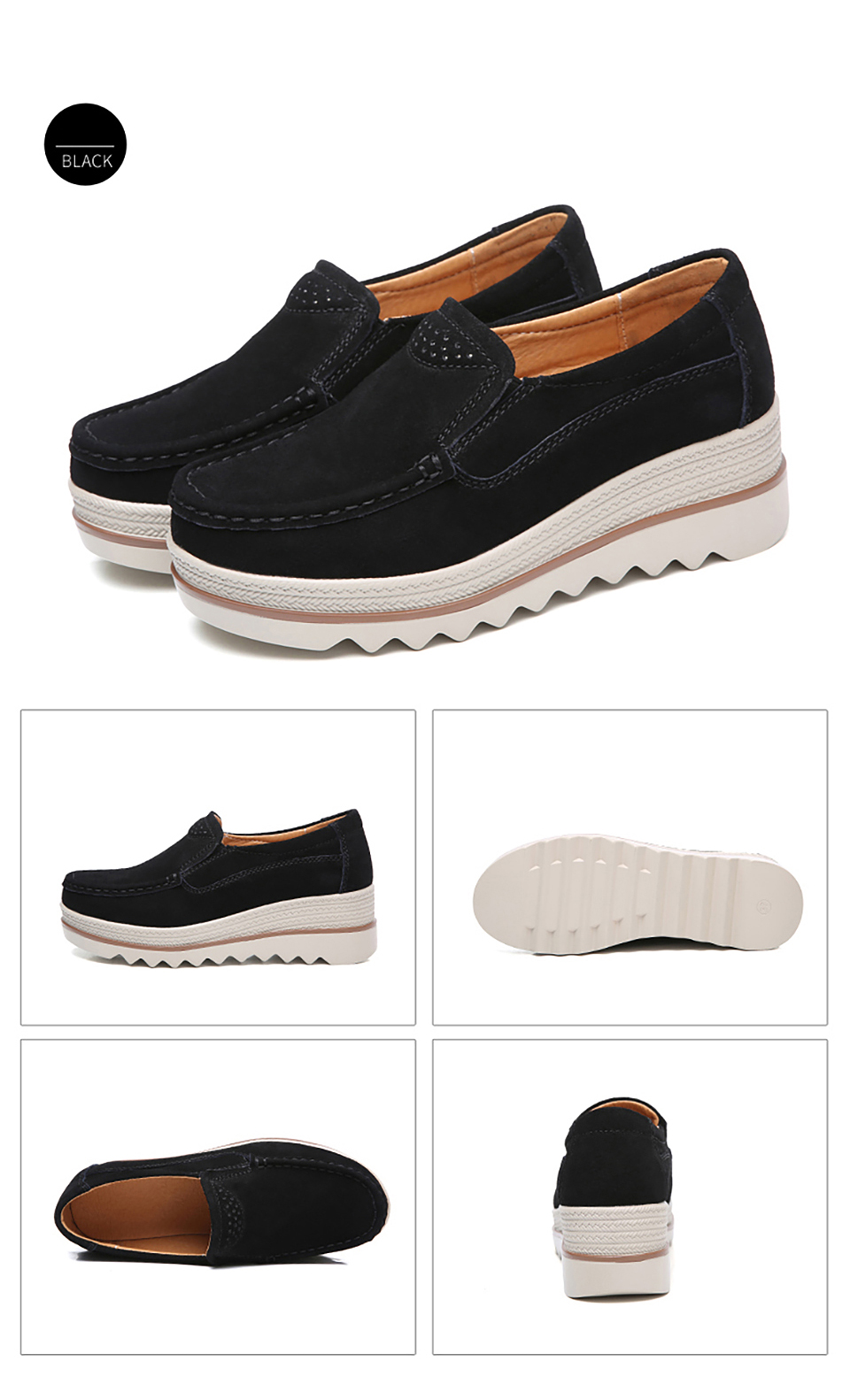 HTB1HMpSOkvoK1RjSZFNq6AxMVXaS 2019 Spring Women Flats Shoes Platform Sneakers Slip On Flats Leather Suede Ladies Loafers Moccasins Casual Shoes Women Creepers