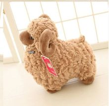 new creative lovely plush sheep toy big brown goat doll toy birthday gift about 50cm
