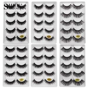 Image 1 - 30 par/partia natrual 3d rzęsy z norek sztuczne rzęsy 3d rzęsy z norek luzem fluffyfalse lash kit 6 paczek rzęsy maquiagem