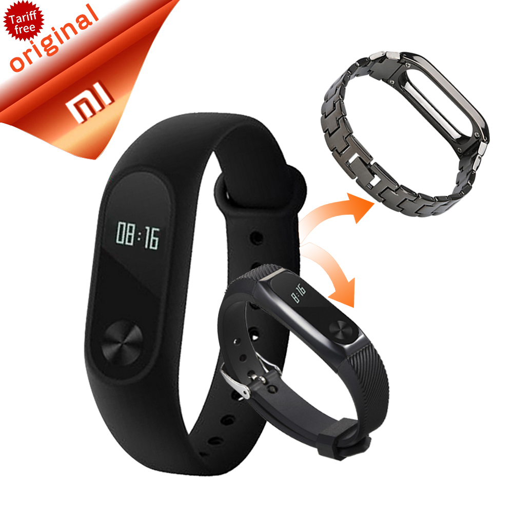 imágenes para Original Xiaomi Fitness Pulsera Miband Xiaomi Mi Banda 2 reloj Pulsera 2 OLED Monitor de Sueño Con Frecuencia Cardíaca Pulseras Inteligentes