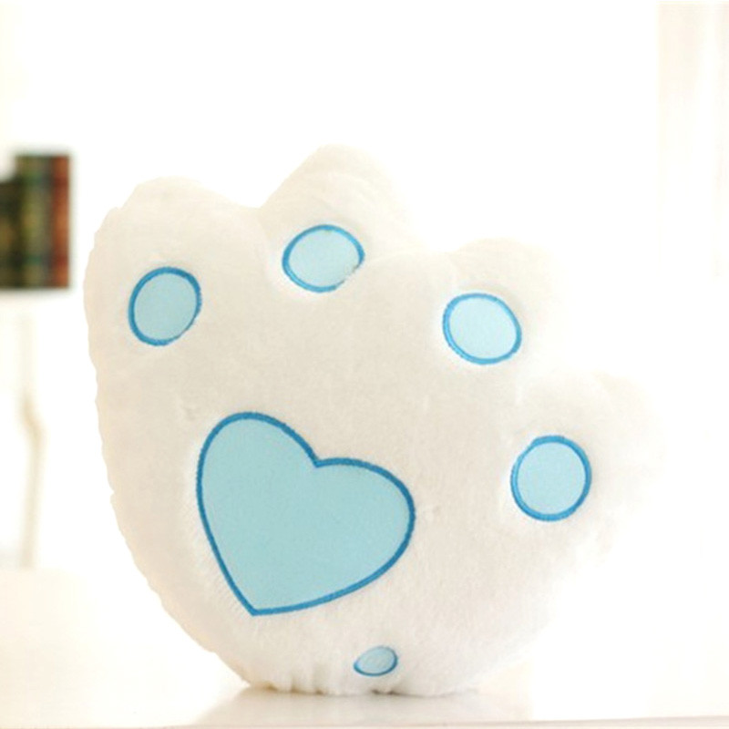 Free Shipping Plush Panda Paw Luminous pillow Glow in the